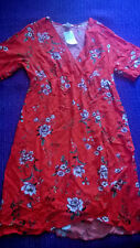 Fabulous Brand New H&M MAMA Maternity red floral dress size M