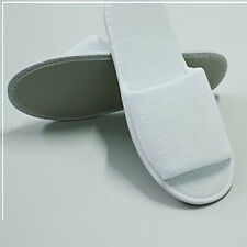 100 x Terry Towel Hotel Slippers Open Toe Disposable Spa Nightwear