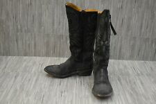 """+Old Gringo Imala 13"""" Embroidered Leather Western Boots, Women's Size 7.5B Black"""