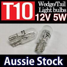 T10 12V 5W CLEAR W5W Filament Globes Tail Wedge Lamp Parker Parking Light Bulbs