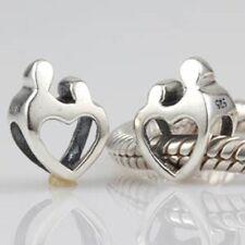 Mamá Madre Niño Bebé 925 Sterling Silver CHARM BEAD FITS European Bracelets
