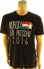 Goodie Two Sleeves $24 Black Nobody For President 2016 Graphic T-Shirt S Small