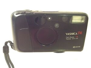 Vintage Yashica T4 Electronic 35mm Film Camera Basics Working - UNTESTED w Film