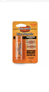 O'Keeffe's Unscented Lip Repair Balm 4.2g Relief For Cracked, Split & Dry Lips