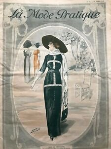 MODE PRATIQUE March 16,1912 +sewing patterns - Afternoon dress Model BERNARD