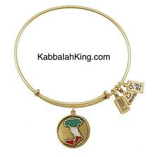 Expandable Bangle Bracelet Made In Usa Wind & Fire Italy Boot Charm Gold