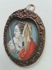 Miniatur Portrait der Heiligen Katharina, Deutsch Mitte 18. Jahrhundert,Gouache