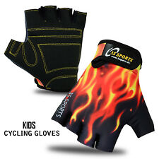 3s Sports Childrens Kids Boys Girls Padded Cycling Gloves BMX Bike Cycle Bicycle Black/yellow XS