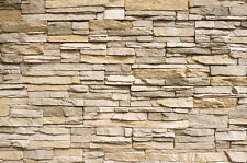 Steinwand Steinmauer Fototapete - Asian Stonewall beige hellbraun Wandbild