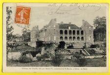 cpa Ecrite en 1910 SAINT MARTIN lès MELLE (Deux Sèvres) CHÂTEAU de CHAILLÉ