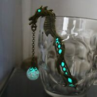 Luminous Bookmarker Beads Glow In The Dark Bookmarks Petals Beads Lead Alloy