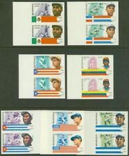 Nicaragua 1984 Baseball set imperf matched margin pairs