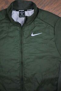 Nike Aerolayer Full Zip Running Jacket Green Men's Large L