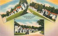 Weymouth Massachusetts~Boston Motor Court Motel~Entrance~Cabins~1940 Linen PC