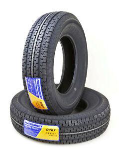 2 Premium FREE COUNTRY Trailer Tire ST 205 75R15 /8PR Load Range D w/Scuff Guard