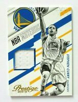 2015-16 Panini Prestige Stephen Curry Jersey Card, NBA Materials, Warriors!