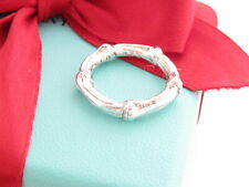 Tiffany & Co Silver Bamboo Ring Size 7.5