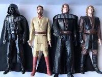 "Star Wars Hasbro Figures 12"" Vadar, Anakin/Evil Skywalker, Obi Wan 2012, 2013"