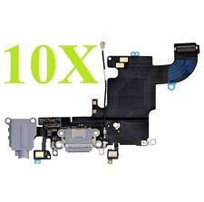 Lot of 10 White Headphone Audio Dock Connector Charging USB Port Flex iPhone 6S
