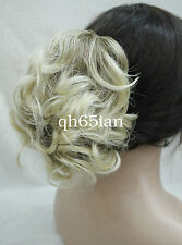 Fashion Short Curly Wavy claw clip ponytail hair pieces cosplay wig