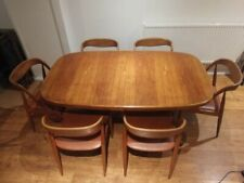Extending 2 Leaf Danish Teak Dining Table, Seats 6 to 10 - 12 Extended