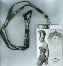 2013 Beyonce - The Mrs. Carter Show World Tour Vip Lanyard & Pass