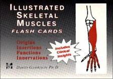 Illustrated Skeletal and Muscle Flash Cards by Garrison. 200 2-color flash cards