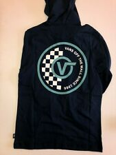 Vans New Van Doren Hooded Long Sleeve T-Shirt Boy's Medium Dress Blues
