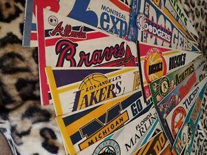 20 Vintage baseball / basket ball / lot / full size PENNANTS