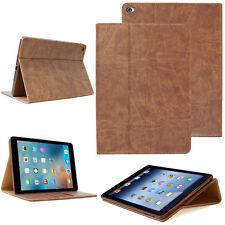 LUXURY Custodia Tablet per Apple iPad Air 2 Custodia Cover Case Stand Marrone