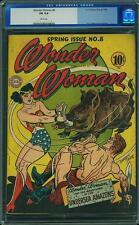 Wonder Woman #8 CGC 6.0 DC 1944 WHITE PAGES! JLA Batman Superman E6 1 cm H10