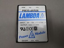 Lambda Pm20-48S08 Low Profile Dc/Dc Converter New