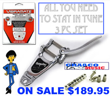 ALL U NEED! Bigsby B7 Vibramate V7 adapter Allparts Roller Bridge 4 Gibson / Epi