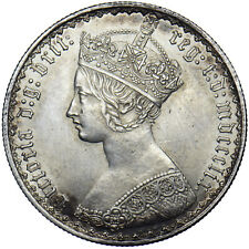 More details for 1859 gothic florin - victoria british silver coin - superb