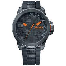 Relojes de pulsera con fecha de acero inoxidable de goma
