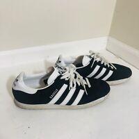 Adidas Originals Men's Gazelle Sneakers Black/White Suede Size 10.5