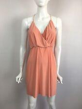 MISA LA Sleeveless Tie Elastic Waist Cocktail Mini Dress Blush Pink M $202 B1