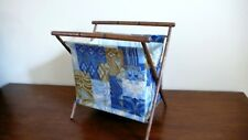 Vtg. Knitting Sewing Yarn Rack Holder Storage Folding Magazine Rack