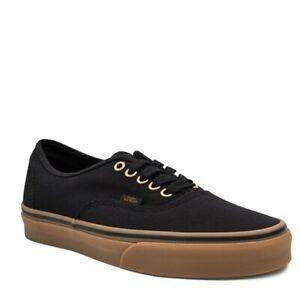 VANS Authentic Black/Rubber Mens Size 8/ Womens Size 9.5 Shoes