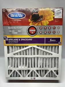 (2) BestAir Aprilaire MERV 11 Pleated Air Filter, A201-SGM-BOX-11R, 6 Inch.