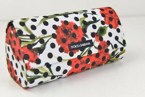 Dolce&Gabbana Sunglasses Eyeglasses Black Floral Dot Large Case Magnetic