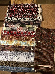 New Sewing Fabric Material Multi Colored Paisley Prints, BTY