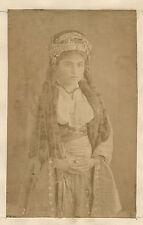 Femme circassienne Caucase Orient Turquie Vintage Albumine ca 1880