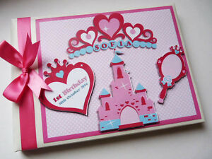 Princess crowns and tiaras birthday guest book, album, gift