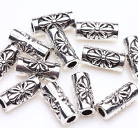 Lots 50/100pcs Silver Plated Loose Spacer Beads/Caps Charms Jewelry Findings