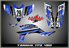 Yamaha YFZ450 03- Carb   SEMI CUSTOM GRAPHICS KIT AJBLU
