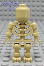 NEW Lego Halloween Minifig TAN SKELETON Warrior -Pirates/Ninjago/Castle/Kingdoms