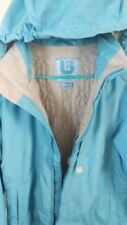 Burton Women's Medium ski/snowboard Jacket Baby Blue Shell with rip in back