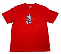 Reebok Mens 2015 Disney World Crew Neck Short Sleeve T Shirt Red Size XL