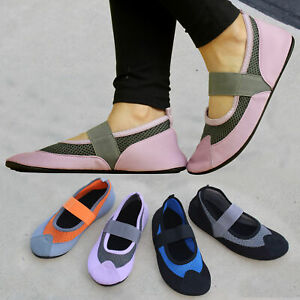 SOBEYO Ballet Flat Mary Jane Shoes Water Yoga Fitness Sports Lightweight mesh